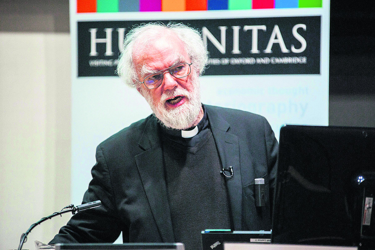 Talk: Former Archbishop of Canterbury Dr Rowan Williams delivers an inter-faith lecture at Oxford University's new Maths Institute