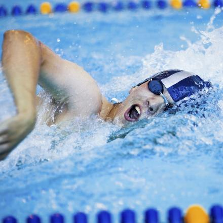 SWIMMING: Wynne-Jones doubles up for Blue Fins