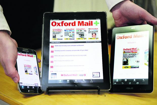 The Oxford Mail+ is available for iPads, iPhones, Android smartphones and tablets and Amazon's Kindle Fire