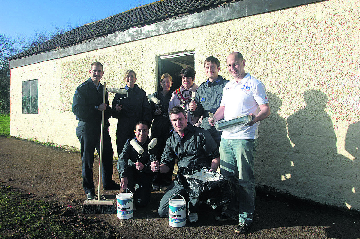 RAF help give a lick of paint and some TLC to food bank