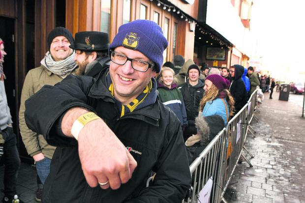 The Oxford Times: Mark Taylorstarted queueing from 6.30am for the gig. Picture: OX65055 Antony Moore