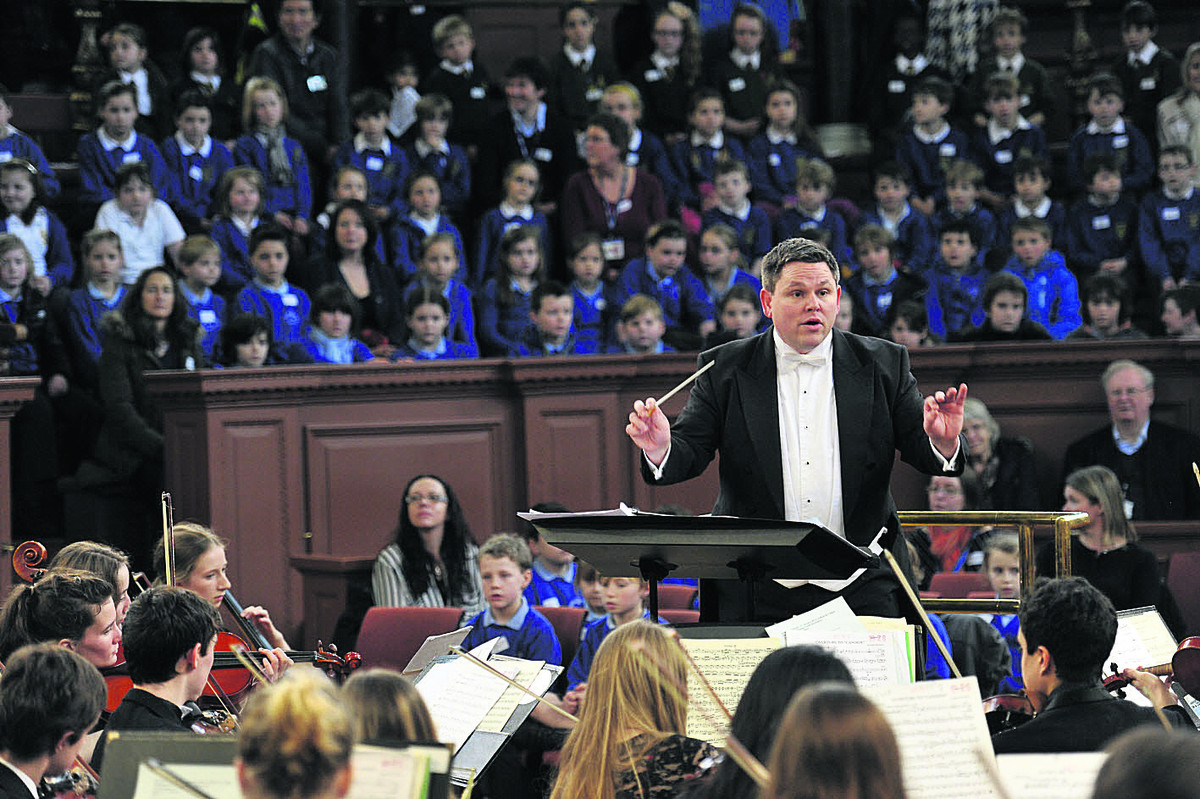 Orchestra hits the right note with pupils