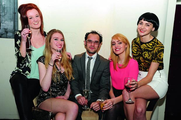 Organiser Carl Anglim with models, at the launch of Oxford Fashion Week, at the Malmaison Hotel Picture: OX64984 Jon Lewis