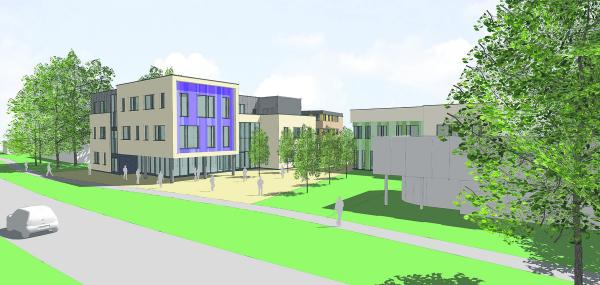 How the proposed new college building would look