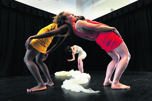 The Oxford Times: Dancers rehearse for a show later staged at Arts at the Old Fire Station, which won £5,087 from Oxford Gives last year. Picture: OX50041 Jon Lewis