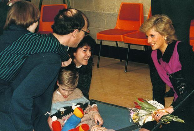 The Oxford Times: Princess Diana shares a joke with Paul Salway and Sally Coates on the day she opened the centre in 1989