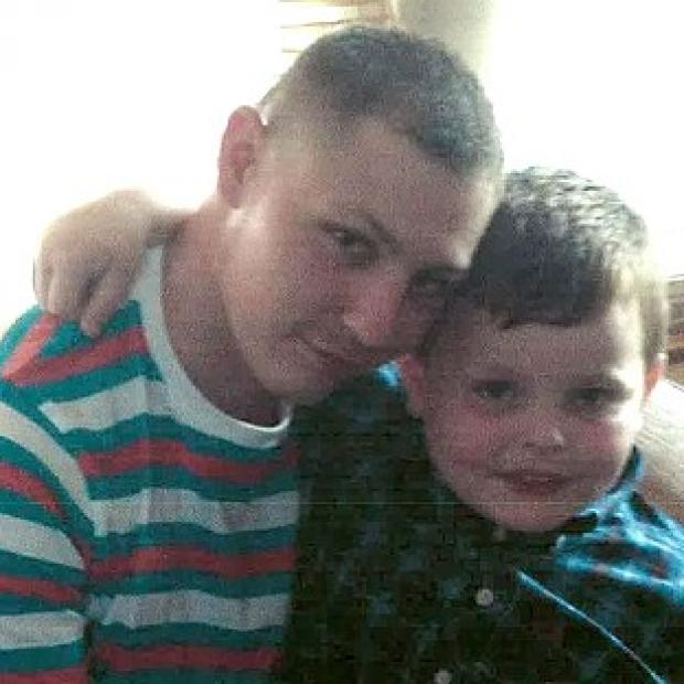 The Oxford Times: Dean Mayley, 24, hugging his seven-year-old nephew Callum