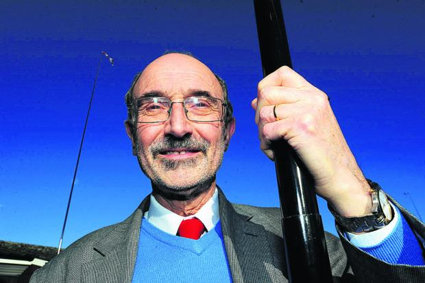 The Oxford Times: James Fry with some of the poles tried out at Elsfield Hall