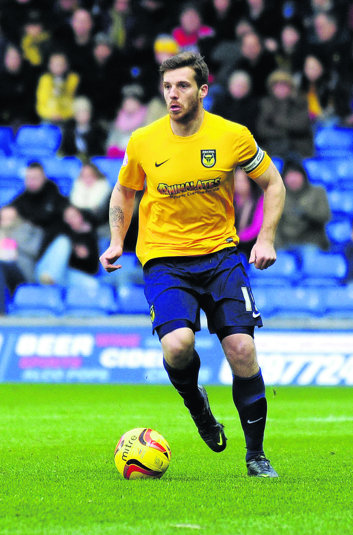 CAPTAIN FANTASTIC: Johnny Mullins aims to lead from the front with the Oxford United armband while regular skipper Jake Wright is sidelined