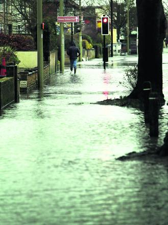 Flooding on Abingdon Road earlier this week    Pictures: Damian Halliwell and Cliff Hide