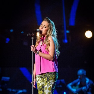 Amelia O'Connell won a place on Team Kylie after a blind audition on BBC1 reality show The Voice (Guy Levy/BBC/PA)