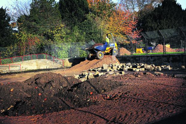 The Oxford Times: Work to fill in one of the old pools at Hinksey