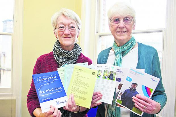 Citizens' Advice Bureau director Gill Tishler, left, with Donnington Advice Centre trustee Sue Tanner