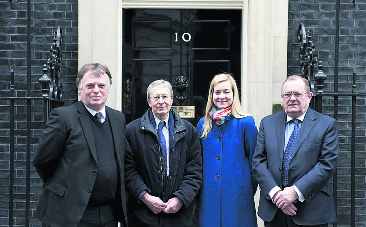From left, Oxford East MP Andrew Smith, city council leader Bob Price, Oxford West & Abingdon MP Nicola Blackwood and Rodney Rose, deputy leader of Oxfordshire County Council