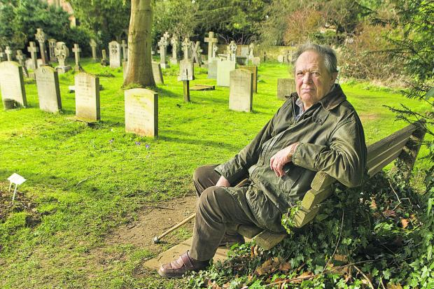 Peter Jay at the cemetery where his great-uncle is honoured