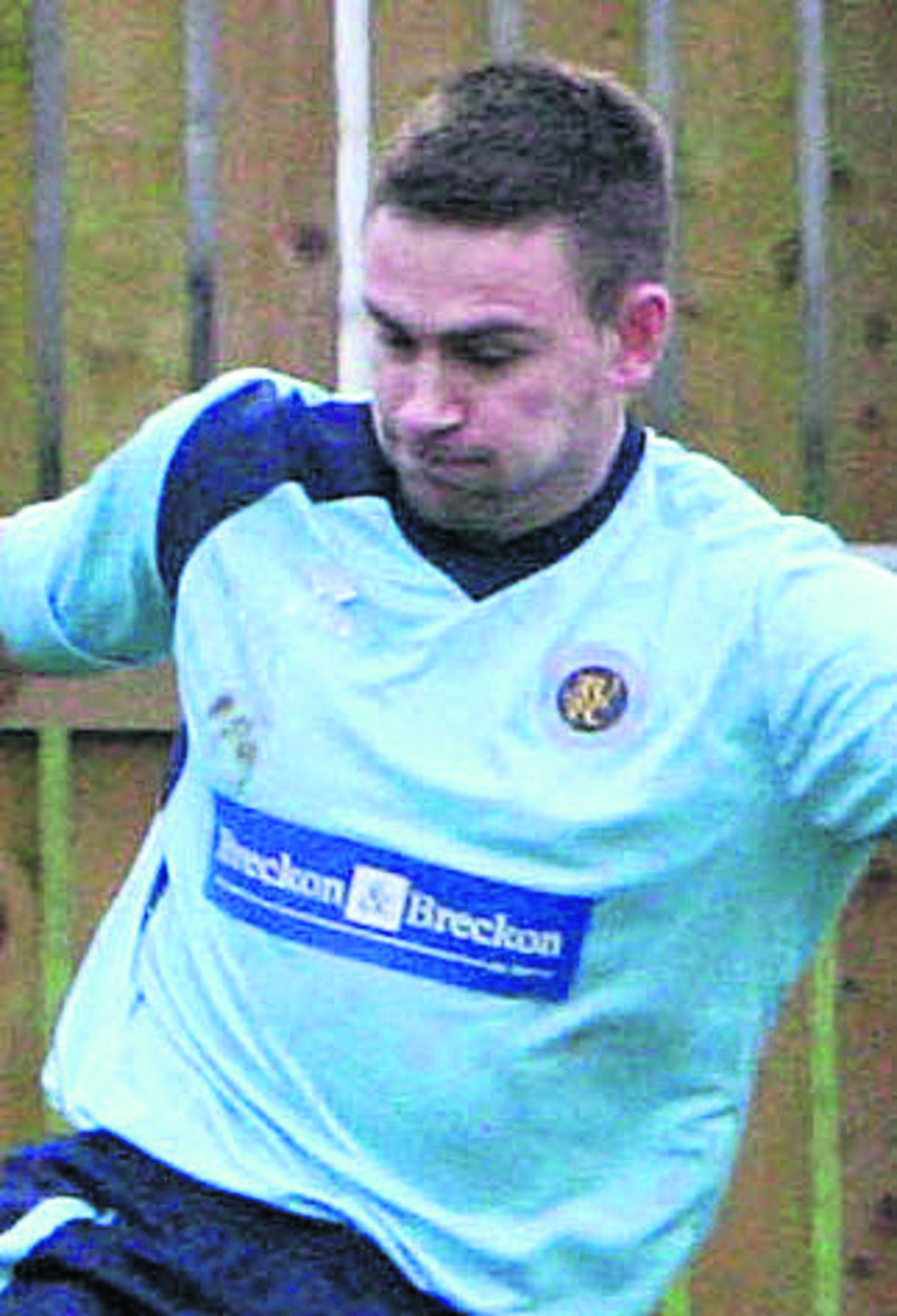 Ardley United's Ryan Brooks scored a hat-trick in the 5-1 thrashing of Newbury on Saturday