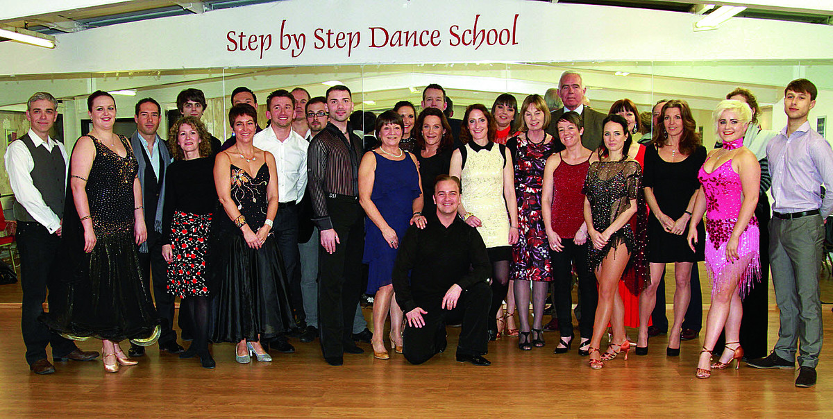 Contestants line up for the launch of Strictly Oxford, in Headington