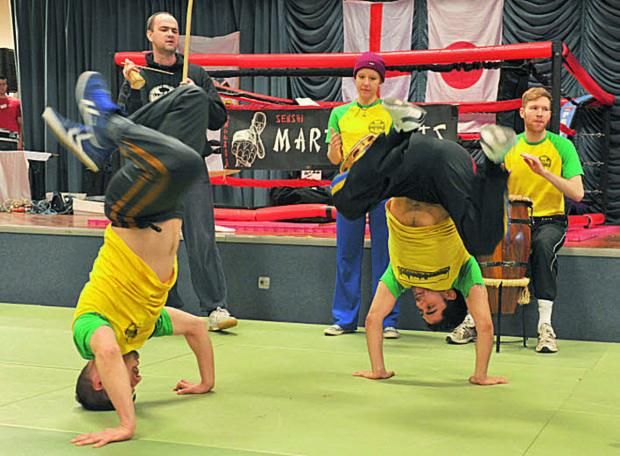 Oxford Capoeira Angola Team perform at a