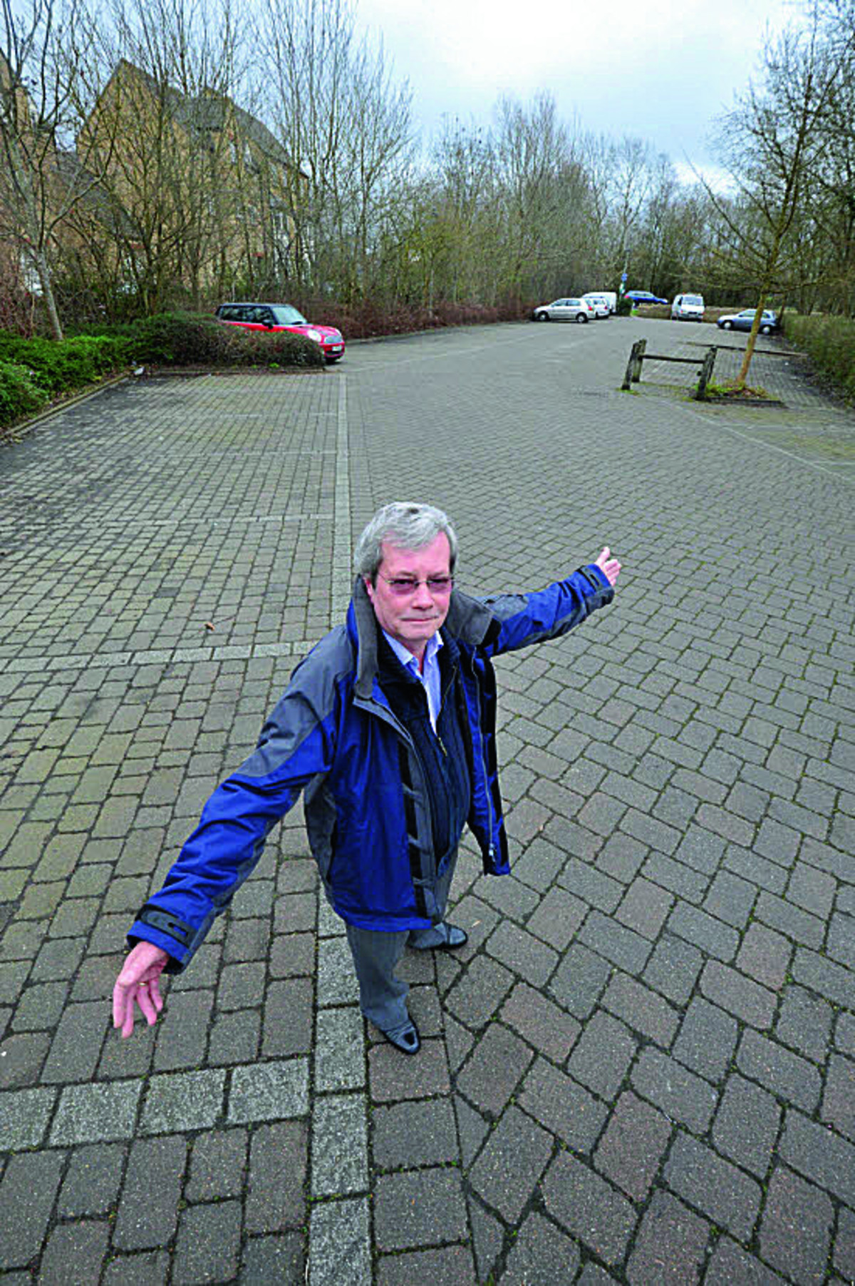 Peter Hellawell stands in the section of the Woolgate car park which used to offer long-stay spaces