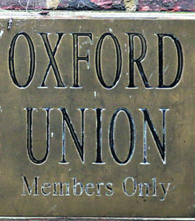 Hacker at Oxford Union