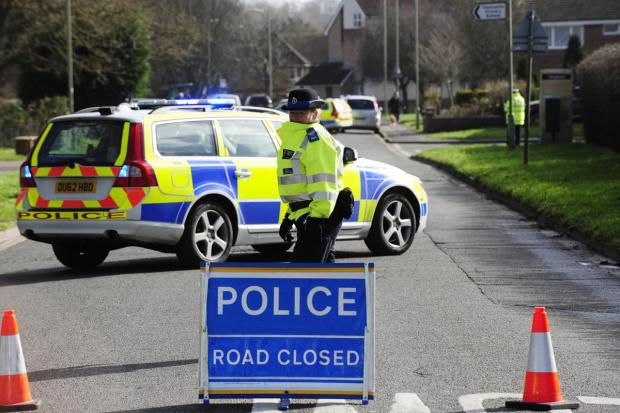 Scene at Preston Road in Abingdon closed this morning after accident