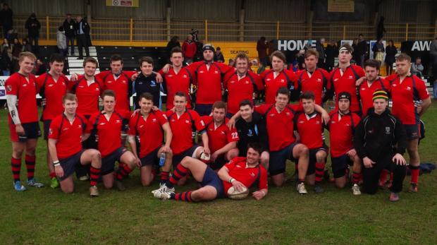 The Oxford Times: Oxfordshire Under 20s line up after the match
