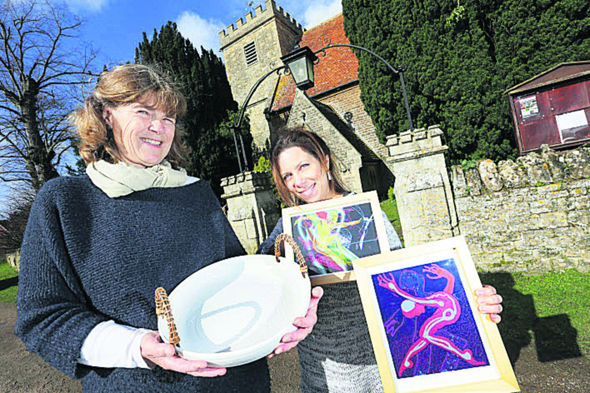 Charlotte Storrs, left, and Tasha Isaacson at St Paul's Church in Culham. Picture: OX65539 Damian Halliwell