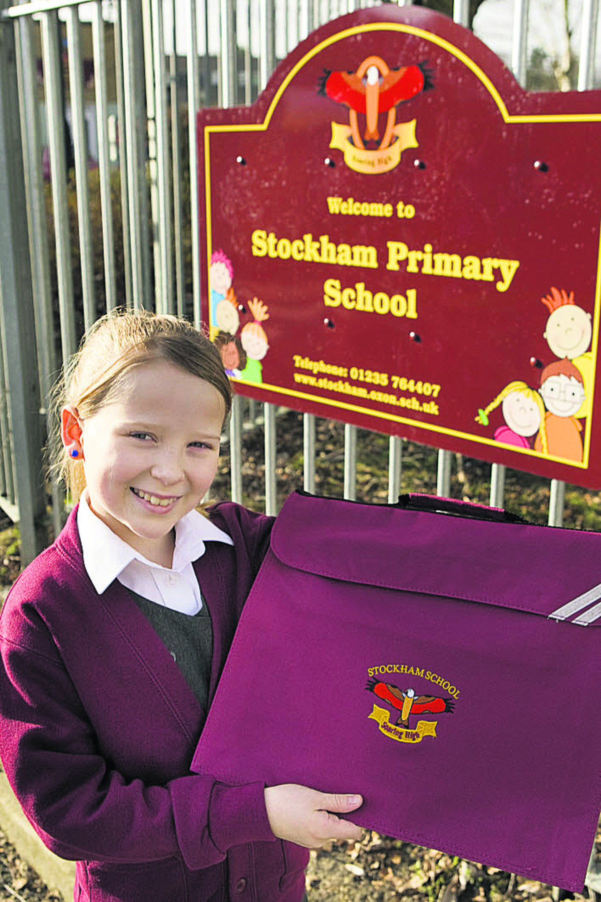 WELL DONE: Elspeth Terry, nine, has designed Stockham Primary School's new logo