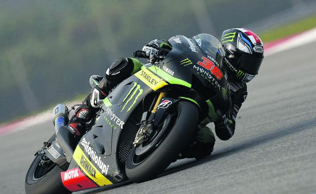 Bradley Smith in practice on the Sepang Circuit in Kuala Lumpur