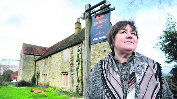 The Oxford Times: Gillian Argyle, from Oxford Civic Society, at the disused former Priory pub