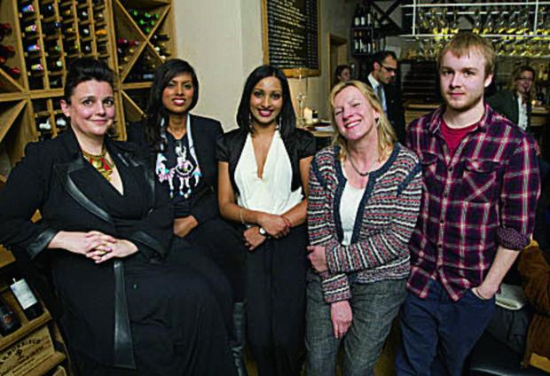 Discussing the trade, Abi Chisman, Elizabeth Laskar, Anusha Couttigane, Rachel Wilshaw and Matt Franklin. Picture: OX65629 Antony Moore
