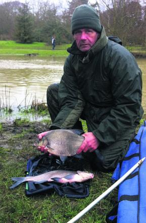 Steve Tomkins with his winning bream