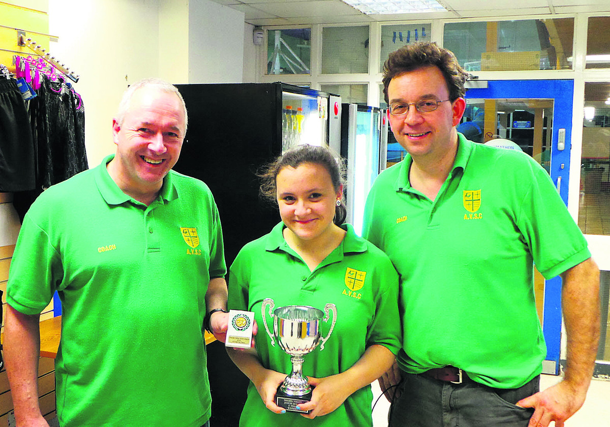 Abingdon Vale captain Caitlin Wheatley proudly holds the Thames Valley Ju