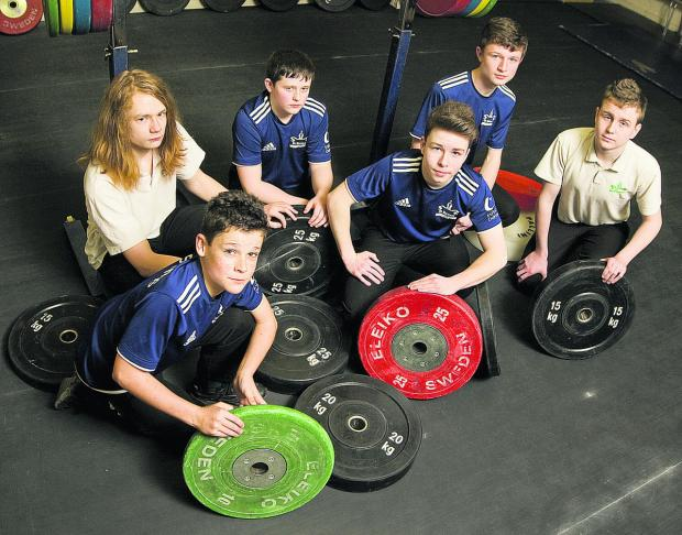 Members of the St Birinus team, who won medals at the British Schools' Weightlifting Championships. Back row (from left): Joshua Rogers, Connor Day, Peter Rose, Dominic Stroud. Front: William Burchette, Conor O'Rourke.