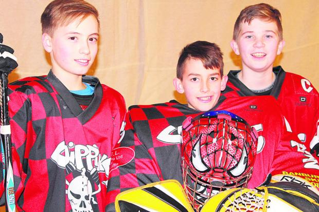 The Oxford Times: Chippy Trixsters Skater Hockey Club members (from left) Jake Williams, Brett Massey and Devon Shadbolt, who have been selected for Great Britain