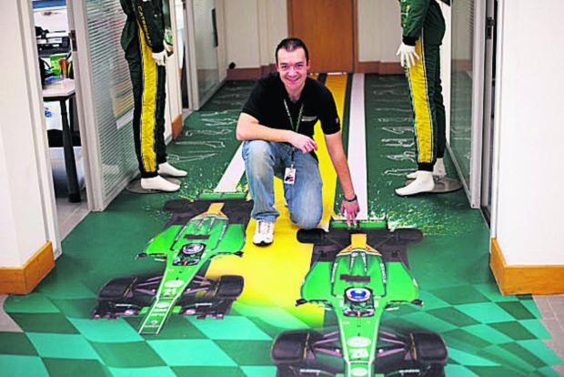 The Oxford Times: David Colman at Caterham F1