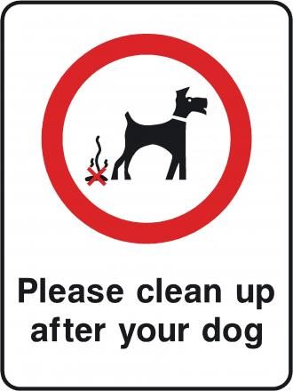 Clean it up appeal to  village dog owners