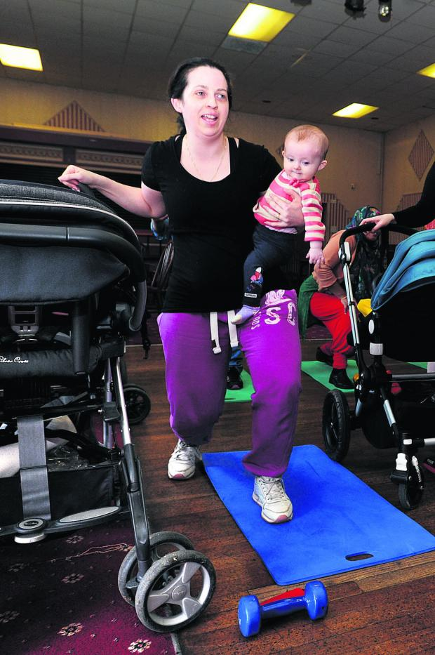The Oxford Times: Victoria Parry with six-month-old Rhiannon at the class