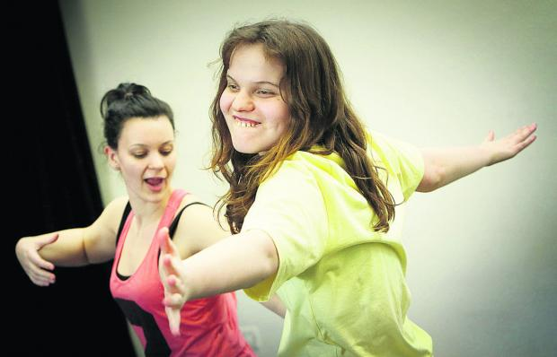 Rose Reed-Berendt, left, of Parasol Project, dances with Kizzy Cleaver. Picture: OX65830 Damian Halliwell