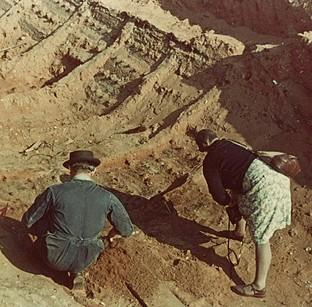 The excavation in the 1930s of the Sutton Hoo site in Suffolk