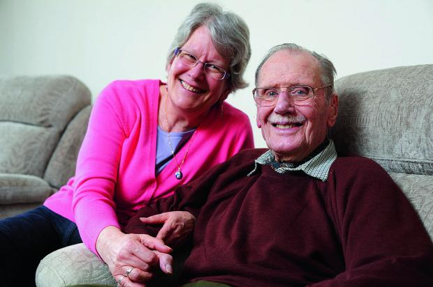 The Oxford Times: John Rowing, with daughter Jane Jelleyman, has visits from a carer as part of a new scheme to help people stay at home and be cared for rather than take up hospital beds