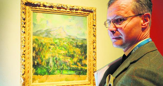 Vivid: Colin Harrison, senior curator of European art, with Cezanne's Mont  Sainte-Victoire, painted circa 1904-06