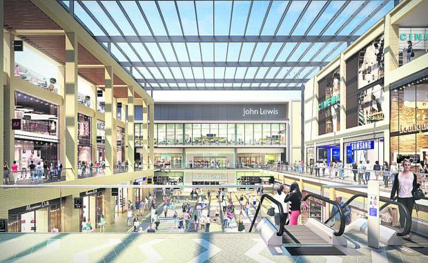 An artist's impression of the new John Lewis store