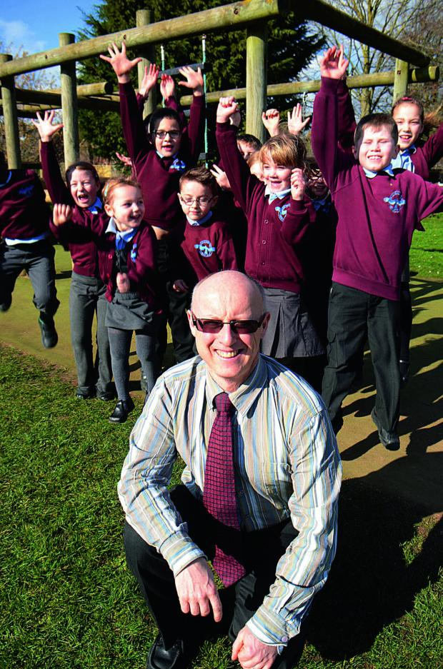 The Oxford Times: Headteacher David Mayer and pupils celebrate Ofsted inspection success