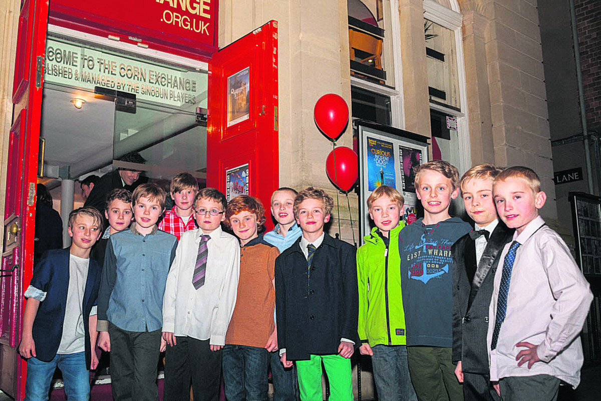 Schoolboys get the red-carpet treatment ahead of the film festival. Picture: OX65702 Greg Blatchford
