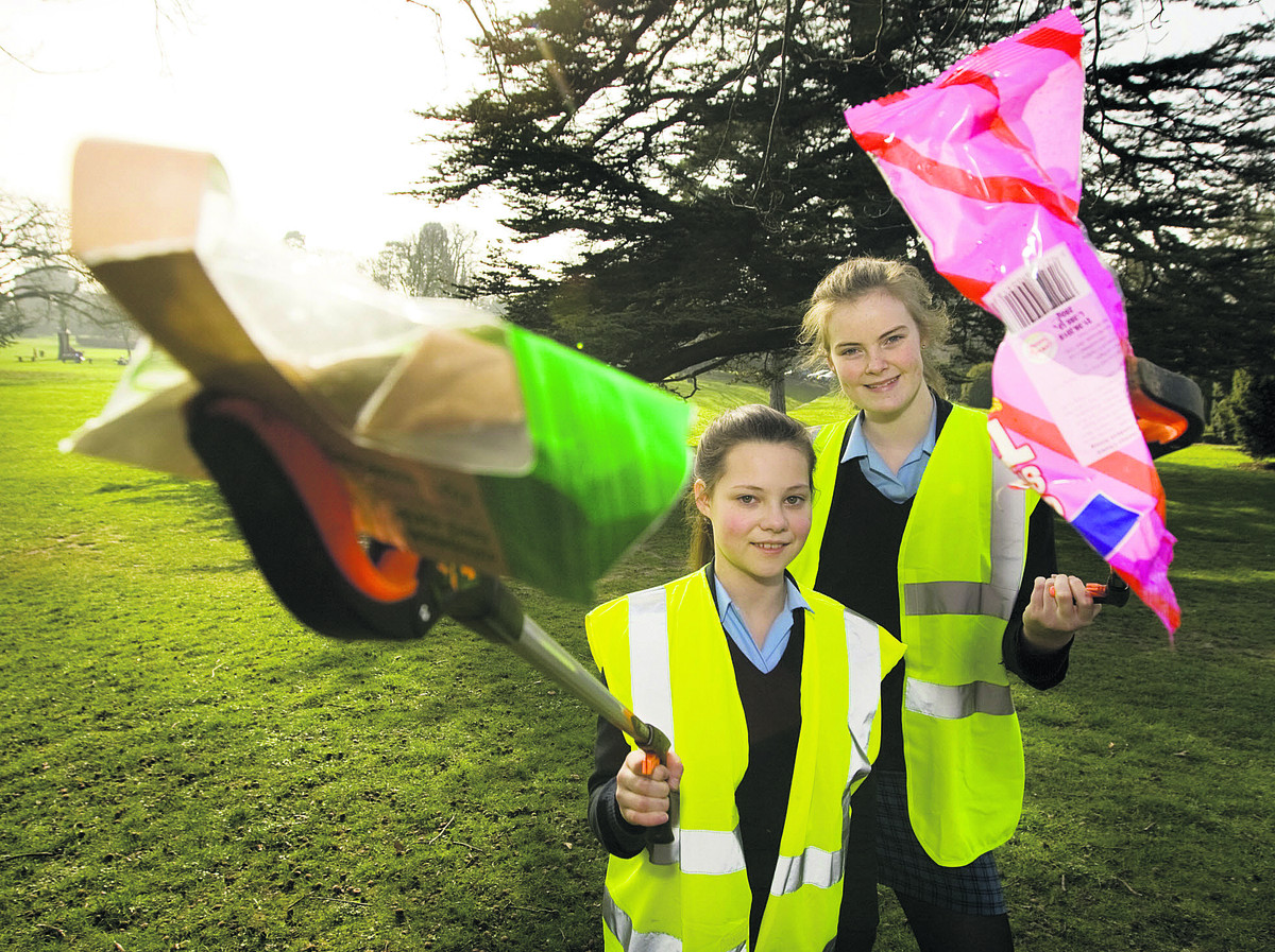 Year 9 Headington School girls Emma Windle and Olivia Henderson, both 13, go litte