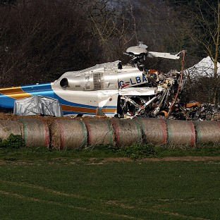 Investigators have begun recovering debris from last week's fatal helicopter crash in Norfolk