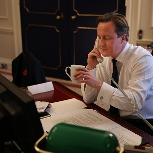 Prime Minister David Cameron has spoken to his Malaysian counterpart by phone