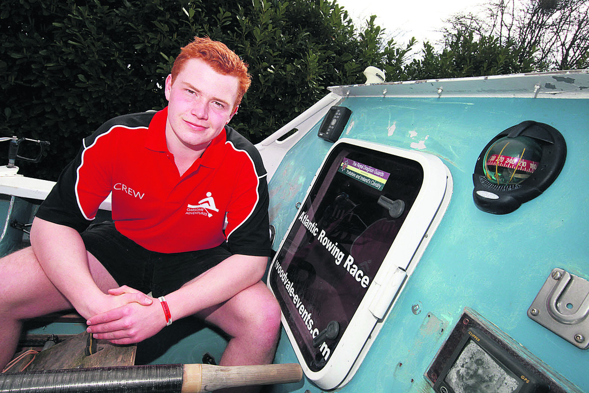 Eoin Hartwright, 17, from Didcot became the youngest person to row the Atlantic
