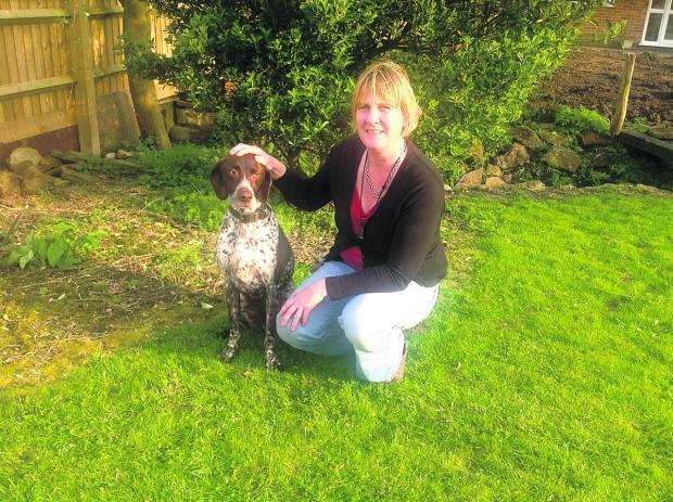 The Oxford Times: Julie Shepherd with her flat-coat German pointer Hector